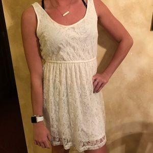 Junior Lace Tank Dress